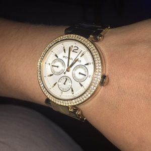 Authentic micheal kors gold watch